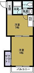 JPアパートメント港2[4階]の間取り