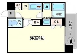 レオンコンフォート難波ノワール[605号室]の間取り