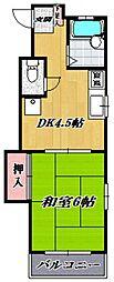 メゾンムラキ[201号室号室]の間取り
