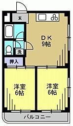 ピアーチェ・ウチムラpart3[203kk号室]の間取り