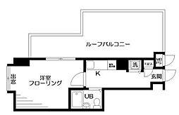 東京都北区東十条1丁目の賃貸マンションの間取り