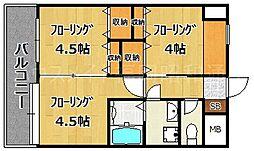 ファーネ桜坂[2階]の間取り