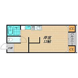大阪府大阪市旭区高殿2丁目の賃貸マンションの間取り