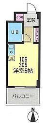 第2サンコート東戸塚[106号室]の間取り