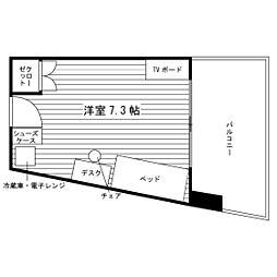 学生会館ユニハーモニー高蔵寺食事付き[3階]の間取り