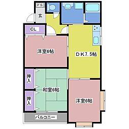 ネオハートI[2階]の間取り