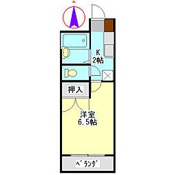 安田学研会館 東棟[111号室]の間取り