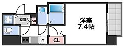 エグゼ堺筋本町 8階1Kの間取り