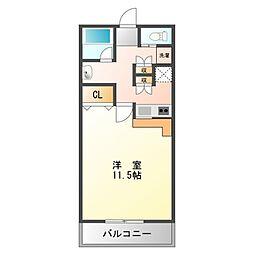サイドヒルII[5階]の間取り