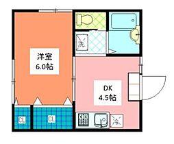 東京都台東区東上野6丁目の賃貸アパートの間取り