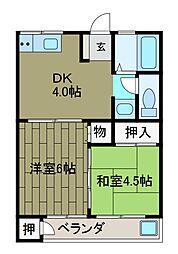 寺台ハイツ[1階]の間取り