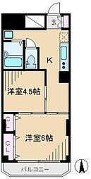 ワコーレ第2マンション[4階]の間取り