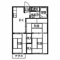 大阪府堺市中区堀上町の賃貸アパートの間取り