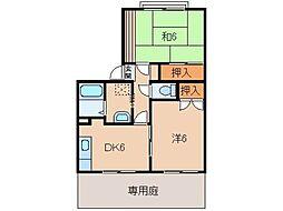 アメニティ太田[1階]の間取り