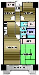 藤和さやまハイタウン[3階]の間取り