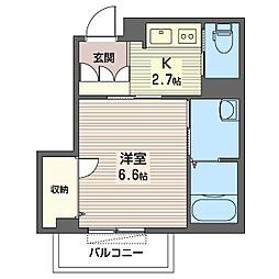 仮)中央区弁天シャーメゾン[3階]の間取り