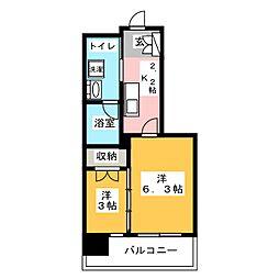 パークレジデンシャル博多[11階]の間取り