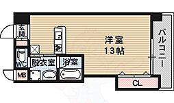 メゾン・ド・ペルル 2階ワンルームの間取り