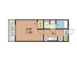 エスポアールA・B棟[1階]の間取り