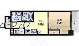名古屋市営桜通線 高岳駅 徒歩6分の賃貸マンション 11階1DKの間取り