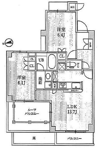 メゾン・エピ六郷[502号室]の間取り