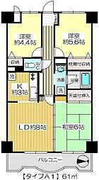 ダイヤメゾン戸田公園[401a号室]の間取り
