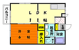 グリーンハイツ松崎[2階]の間取り
