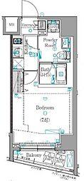 東急東横線 学芸大学駅 徒歩13分の賃貸マンション 2階1Kの間取り