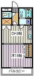 埼玉県さいたま市南区曲本5丁目の賃貸アパートの間取り