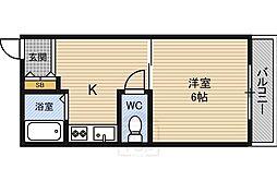大阪府大阪市都島区中野町1丁目の賃貸マンションの間取り