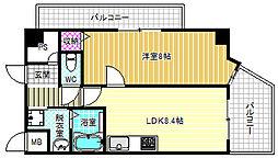 カスタリア新梅田[2階]の間取り
