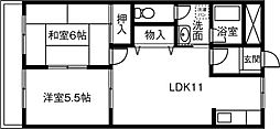 愛知県稲沢市小池1丁目の賃貸マンションの間取り
