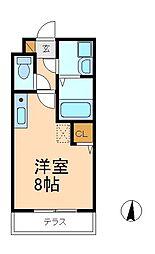 センタービレッジ 北松戸[1階]の間取り