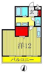 セレニティーホームズB棟[302号室]の間取り