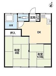 はづき荘[1階]の間取り