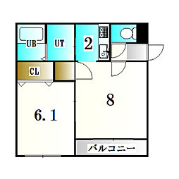 北海道札幌市厚別区厚別中央二条2丁目の賃貸マンションの間取り