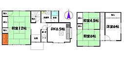 [一戸建] 兵庫県姫路市町坪 の賃貸【/】の間取り