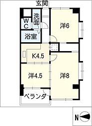 ピボット桐林[2階]の間取り
