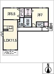 仮)シャーメゾン岩崎[2階]の間取り