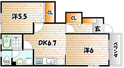 MIKI HOUSEIII A棟[1階]の間取り