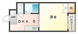 マンション サンベル[3階]の間取り