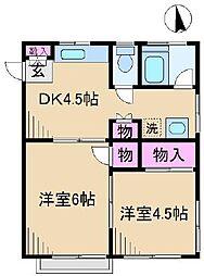 東京都足立区新田3丁目の賃貸マンションの間取り