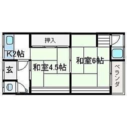 西高井住宅[2階]の間取り