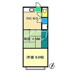 岩崎荘[1階]の間取り