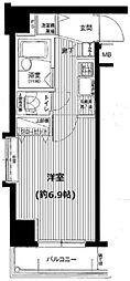 東京都中央区日本橋蠣殻町1丁目の賃貸マンションの間取り