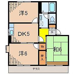 カーサミヤ1[102号室号室]の間取り