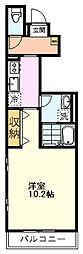 JR中央線 国立駅 徒歩14分の賃貸アパート 1階1Kの間取り