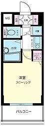 東京都大田区千鳥1丁目の賃貸マンションの間取り