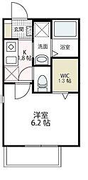アウトリガー湘南平塚[205号室号室]の間取り