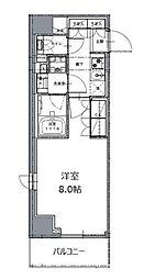 東京メトロ南北線 白金高輪駅 徒歩8分の賃貸マンション 6階1Kの間取り